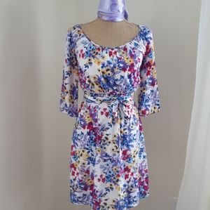 Old Navy ,3/4 sleeves Botanic Print Dress